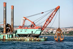 Dredge platform Stock Images