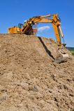 Dredge in a working zone. Royalty Free Stock Photo