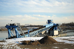 Dredger 009. A dredger in the late winter royalty free stock photography