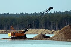 Dredger Royalty Free Stock Photos