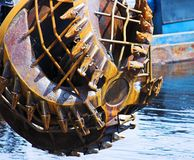 Dredger. Dredge machine Stock Image