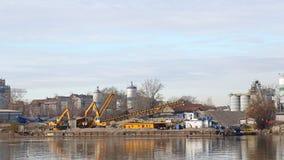 Dredger Barge. Sand Dredger Barge Construction at River Stock Photography