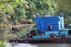 The dredger Royalty Free Stock Photo