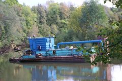The dredger Stock Photography