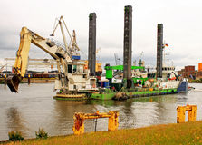 Dredger, dredging vessel Royalty Free Stock Image