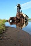 Dredger från kusten Arkivfoton