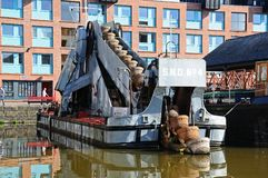 Dredger in Gloucester Docks. Stock Images