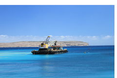 Dredger. Near Cirkewwa ferry port Stock Photography