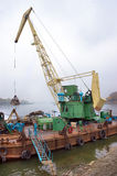 Dredger on river Royalty Free Stock Photography