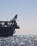 Dredger at sea. The front of a trailing suction hopper dredger royalty free stock image