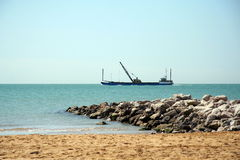 Dredger ship Stock Photography