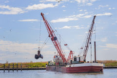 Dredger ship navy Royalty Free Stock Images