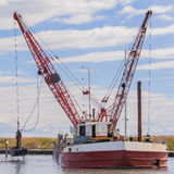 Dredger ship navy Royalty Free Stock Photo