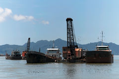 Dredging Royalty Free Stock Photos