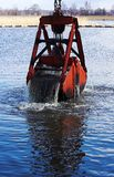 Dredging. A harbour Stock Photography