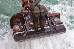 Dredging head. Of a trailing suction hopper dredger stock image