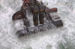 Dredging head. The head of a trailing suction hopper dredger stock images