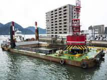 Dredging in Hiroshima Bay Stock Photography