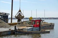 Dredging a marina slip Royalty Free Stock Photo