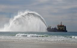 Dredging off the Queensland coast Stock Photo