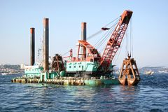 Dredging Platform Royalty Free Stock Photos