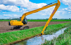 Dredging the river. Royalty Free Stock Photos