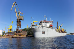 Dredging ship Royalty Free Stock Photography