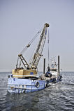 Dredging ship Royalty Free Stock Photo