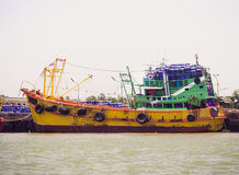 The dredging ship River Royalty Free Stock Photos