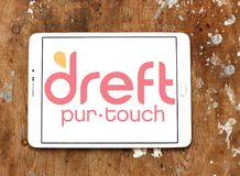 Dreft laundry detergent brand logo. Logo of Dreft brand on samsung tablet. Dreft is a laundry detergent in the United States, Canada, United Kingdom and other royalty free stock photography