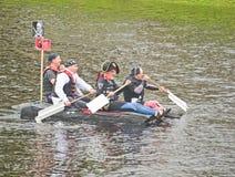 Dreh für Inverness und Culloden im Floßrennen. stockfotos