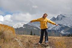Drehbeschleunigung im Berg Lizenzfreie Stockfotos