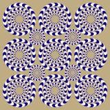Drehbeschleunigung kreist ein (Illusion) Stockfoto