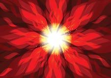 Drehbeschleunigungsbrandflammen-Feuerhintergrund Stockfoto