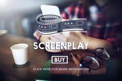 Drehbuch-Korrektor-Story Write Copyright-Konzept stockfoto
