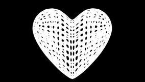 Drehen sich rotes Herz geformte Zellaufbauten herum auf rosa Hintergrund stock abbildung