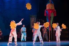 Drehen Sie eine Taschentuch-akrobatische showBaixi Traum-Nacht Stockfoto