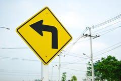 Drehen Sie linkes Verkehrszeichensymbol Lizenzfreie Stockfotografie