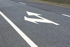 Drehen Sie sich nach links, gehen Sie gerade Lizenzfreies Stockfoto