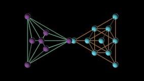 Drehende Animation der Tetraeder DNA-Molekülstruktur stock video footage