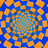 Drehende Blöcke, optische Täuschung, Vektor-Illustrations-Muster Stockbild