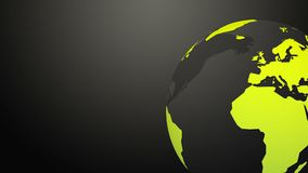 Drehende Erdkugel Grüne Hintergrundschleife der Technologie stock abbildung