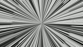 Drehende Hypnotik sprengte Streifen - nahtlose Schleifenbewegungsgraphiken stock footage