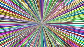 Drehende Hypnotik sprengte Streifen - nahtlose Schleifenbewegungsgraphiken stock video footage