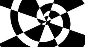 Drehende Schwarzweiss-Spirale, nahtlose Schleife HD, Effekt hypnotisierend vektor abbildung