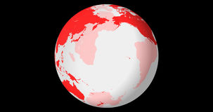 Drehende transparente Kugel, Nordhalbkugel, mit Alphakanal, 4k schlingend stock footage