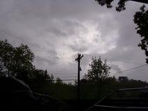 Drehende Wolken stockbild