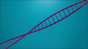 Drehender DNA-Strang vektor abbildung