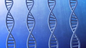 Drehender DNA-Strang stock abbildung