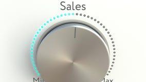 Drehender Griff mit Verkaufsaufschrift stock video